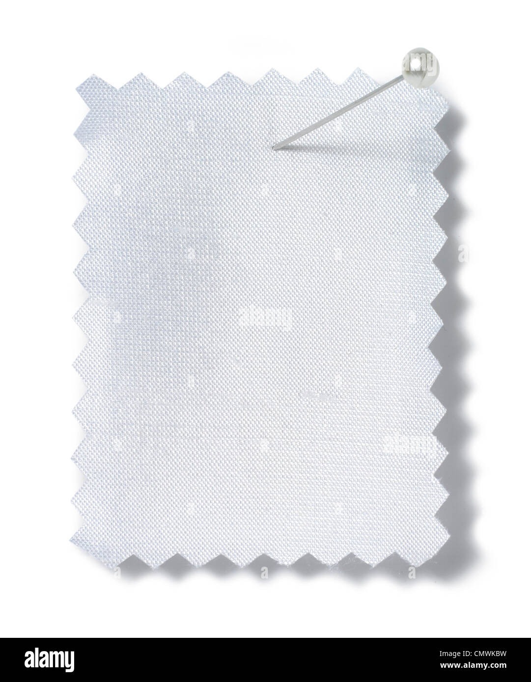 pinned cloth sample - Stock Image