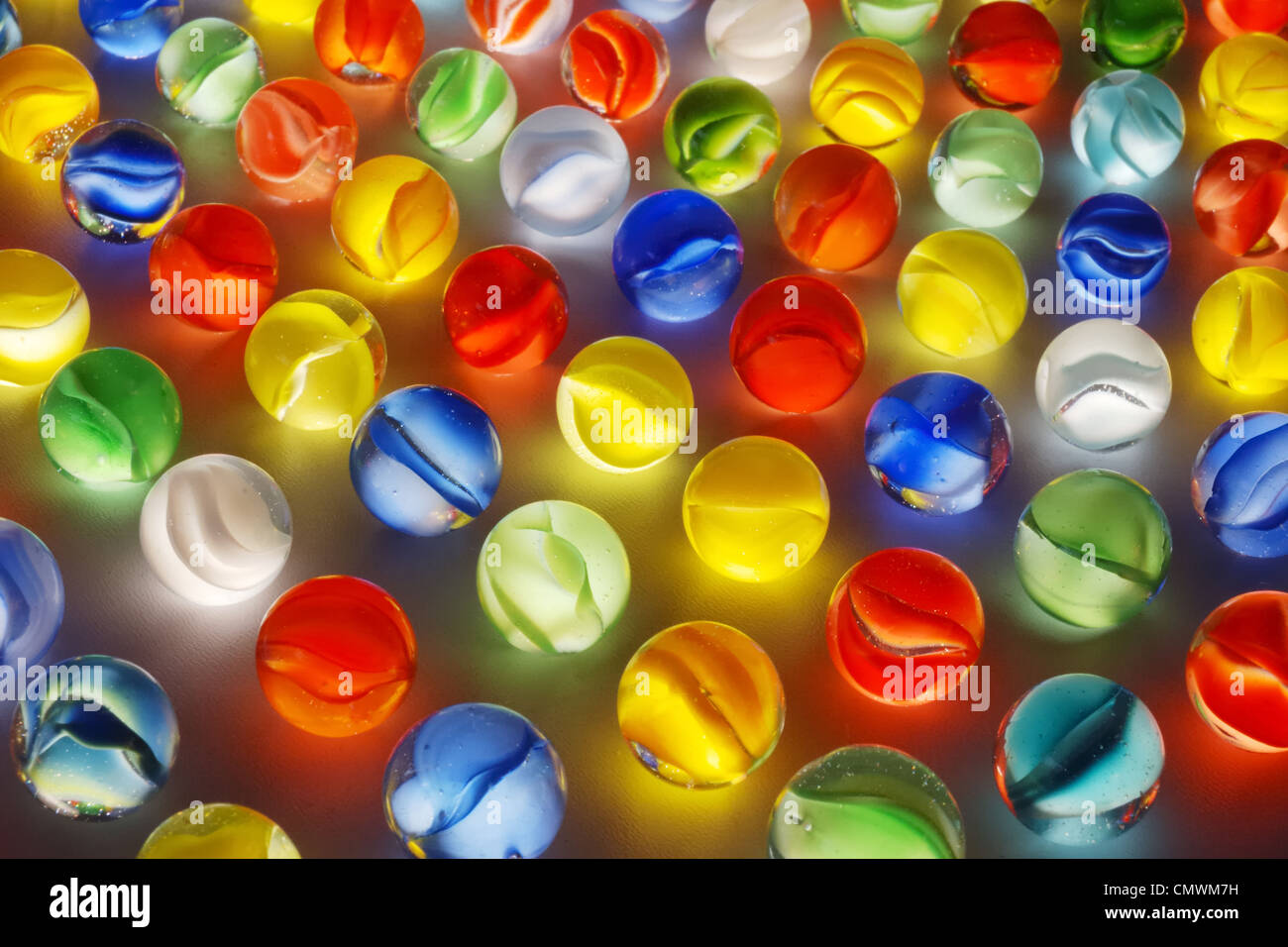 colorful glass marbles - Stock Image