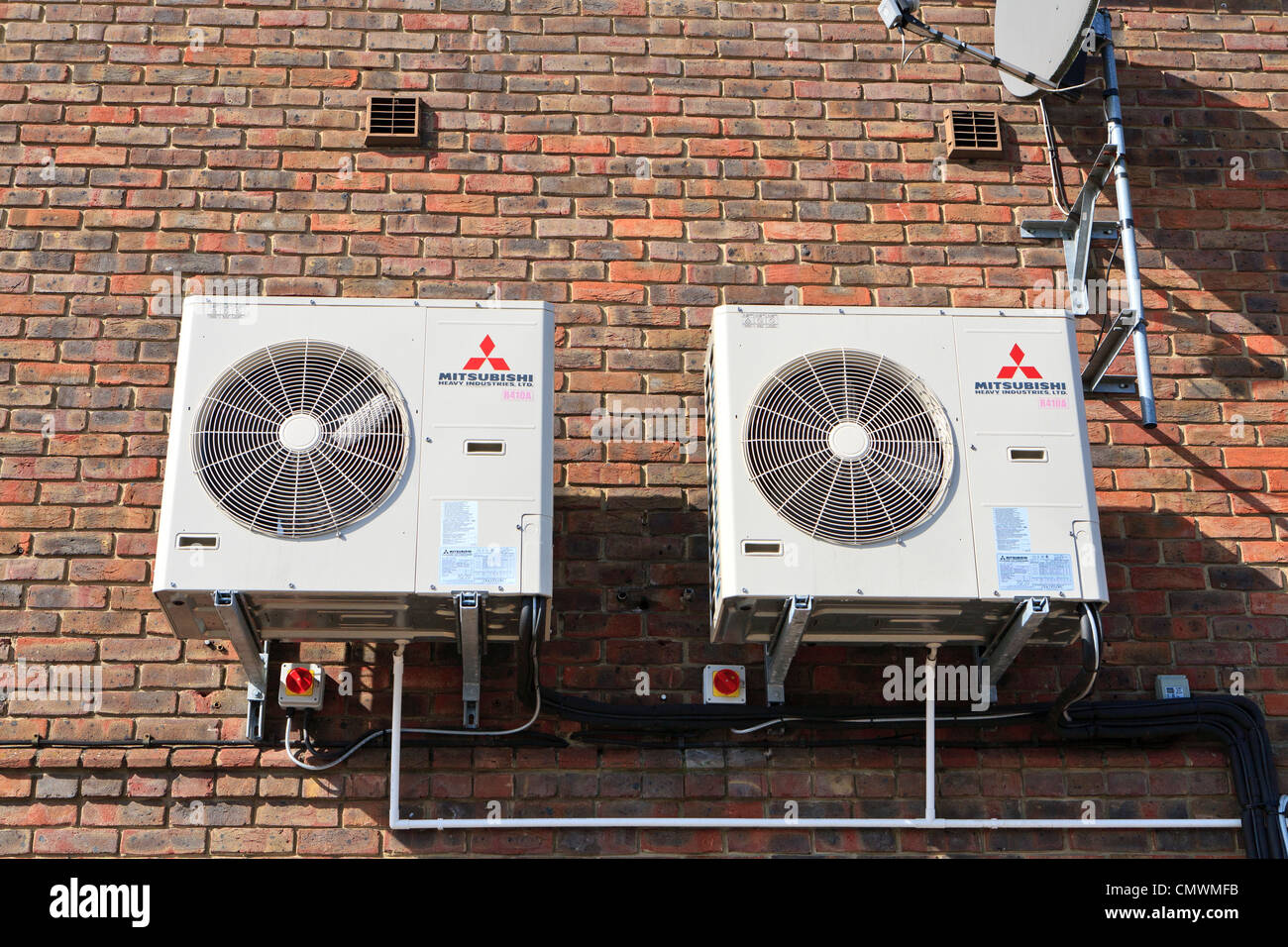 mitsubishi air conditioning units stock photo: 47278767 - alamy