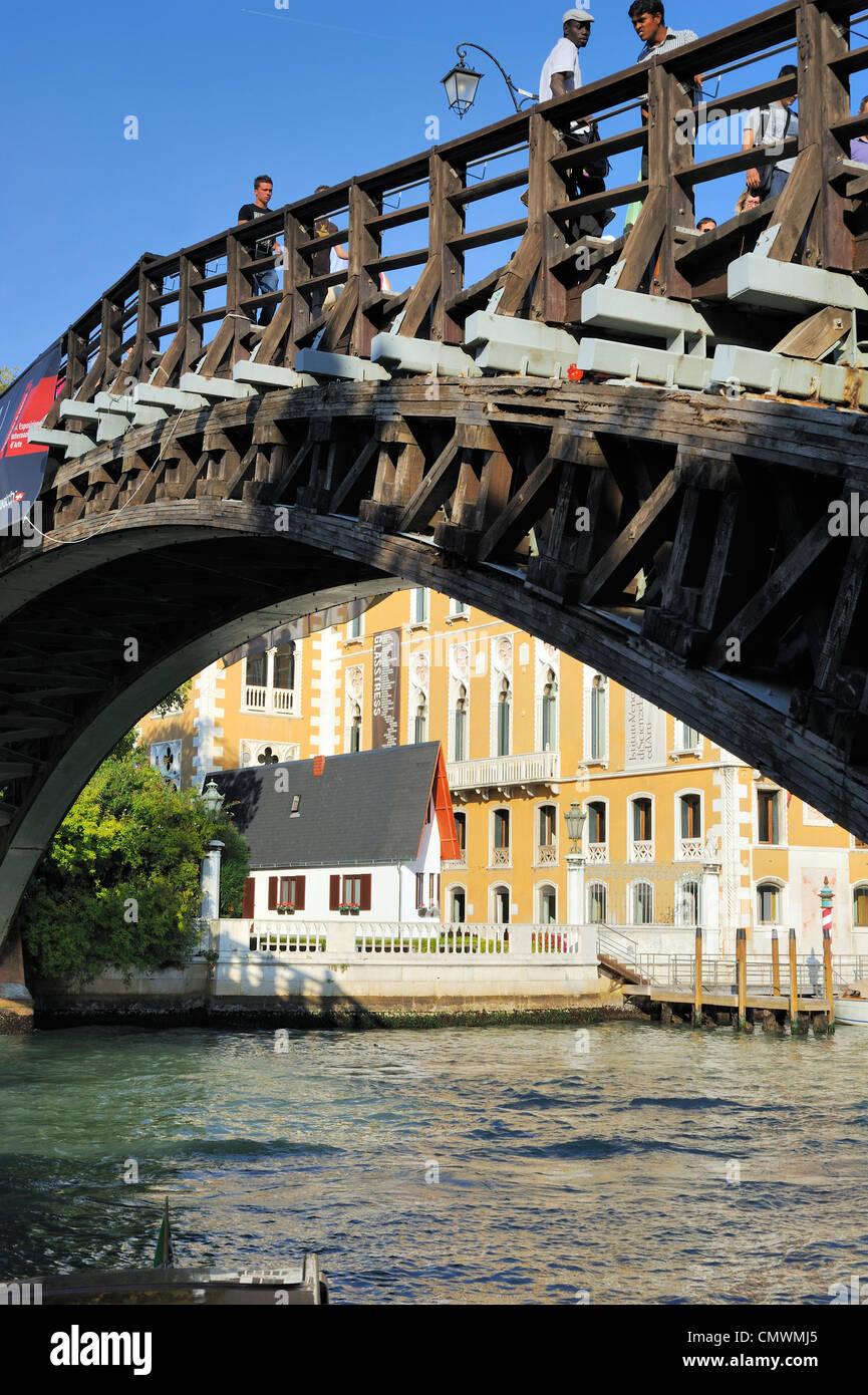 Venice Italy Narrow house by Erwin Wurm - Stock Image