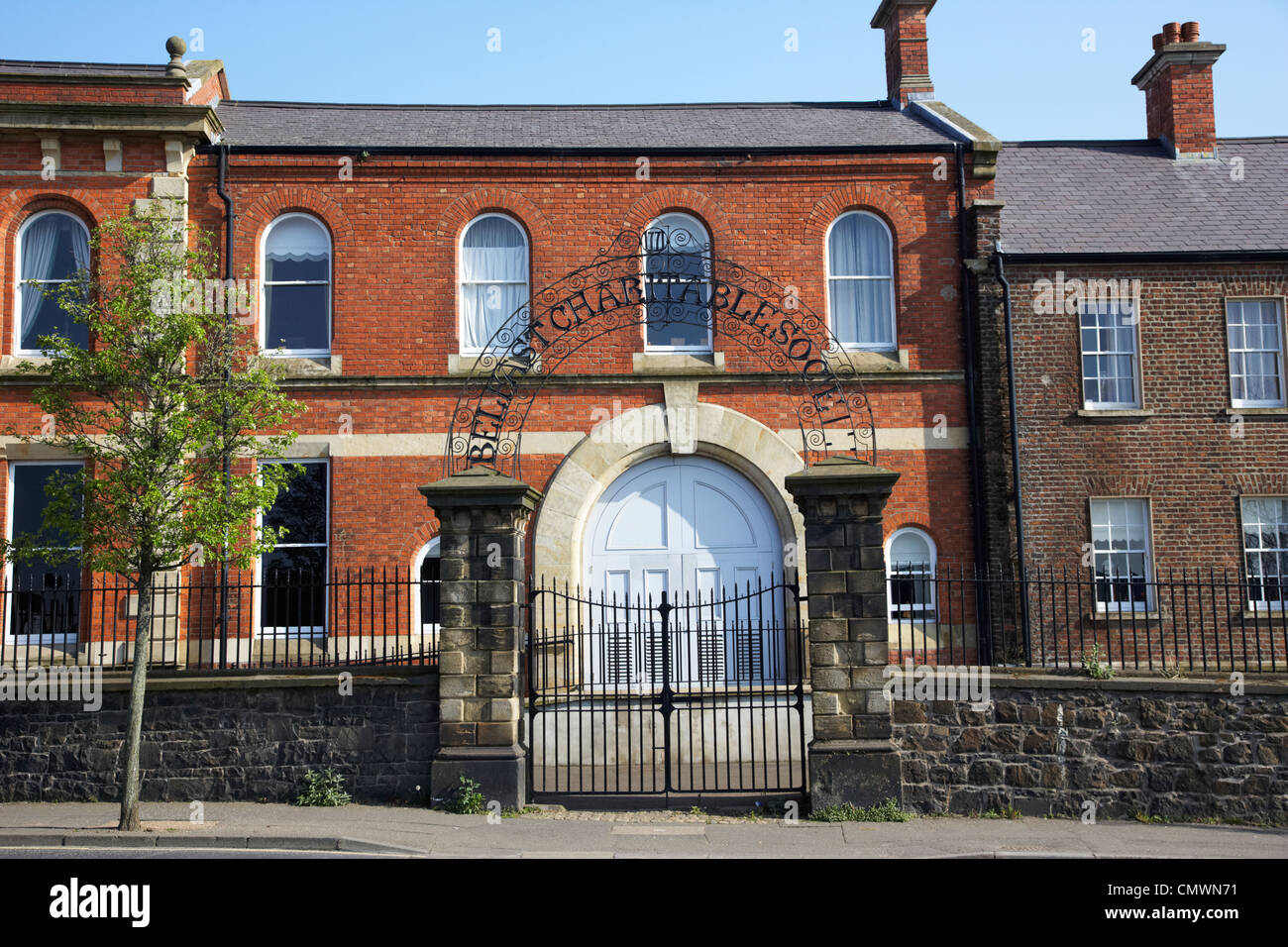 Belfast Charitable Society building clifton street Northern Ireland uk - Stock Image
