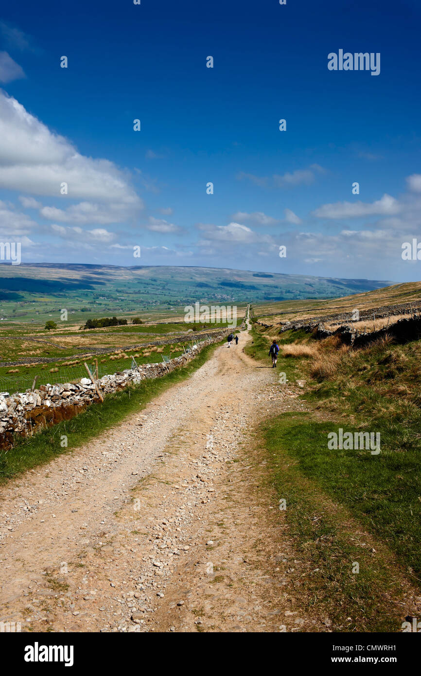 Cam High Road a Roman Road running from Ingleton to the fort at Bainbridge. The view looking towards Bainbridge, Stock Photo