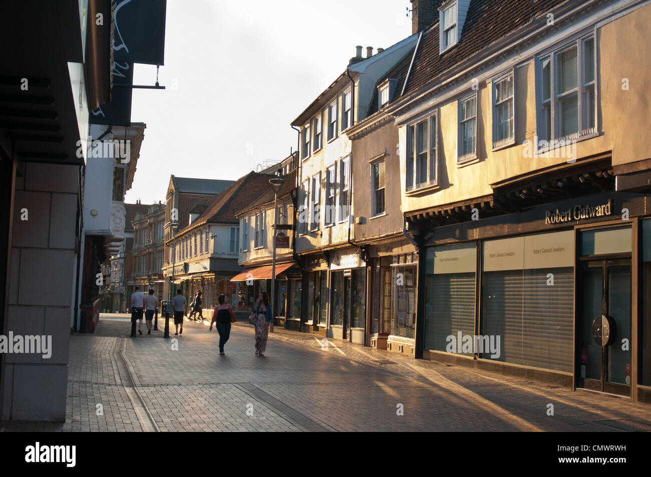 Butter Market in Ipswich town centre in evening sun. England. - Stock Image