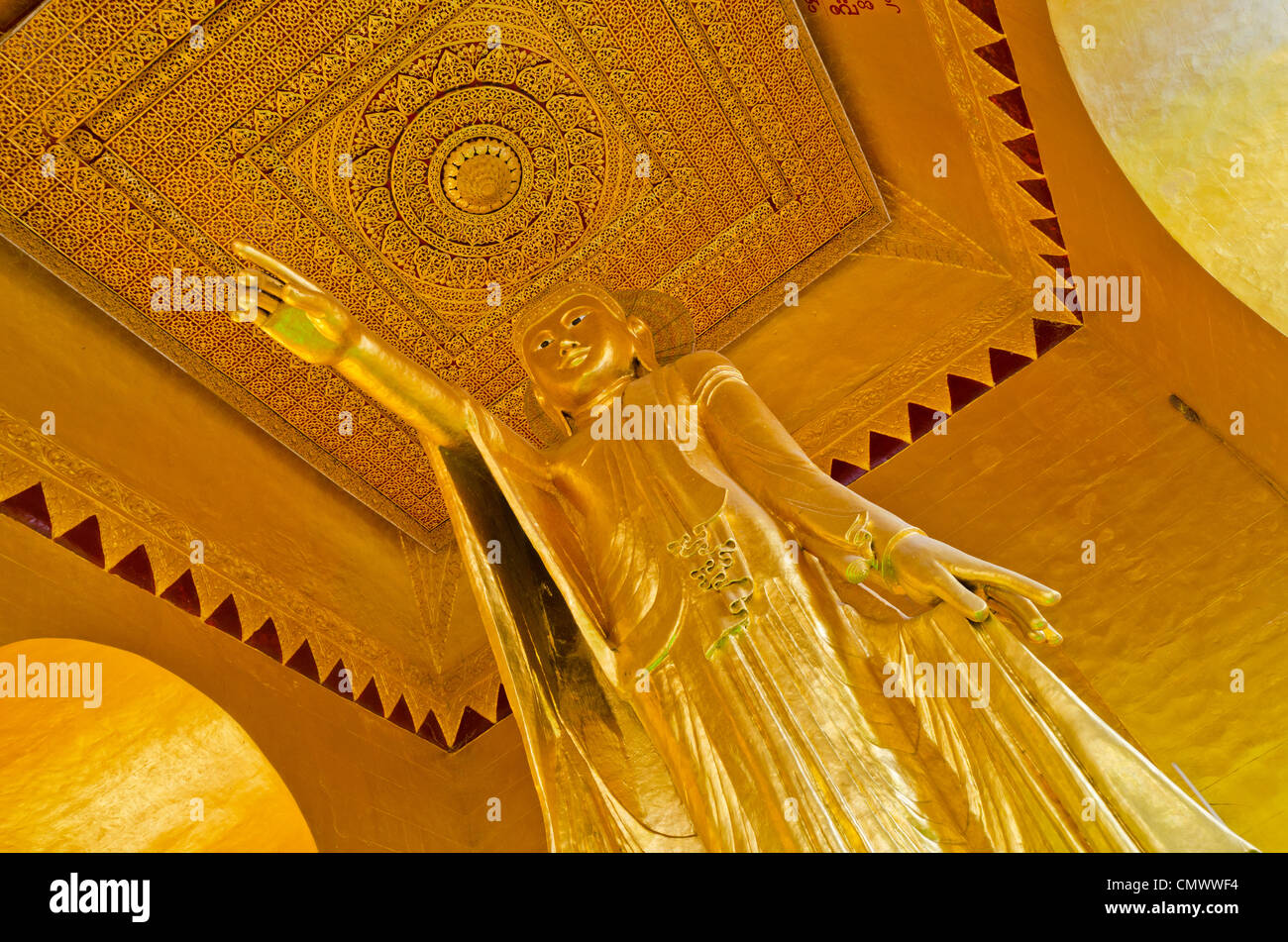 Buddha statue, Mandalay Hill, Mandalay, Myanmar - Stock Image