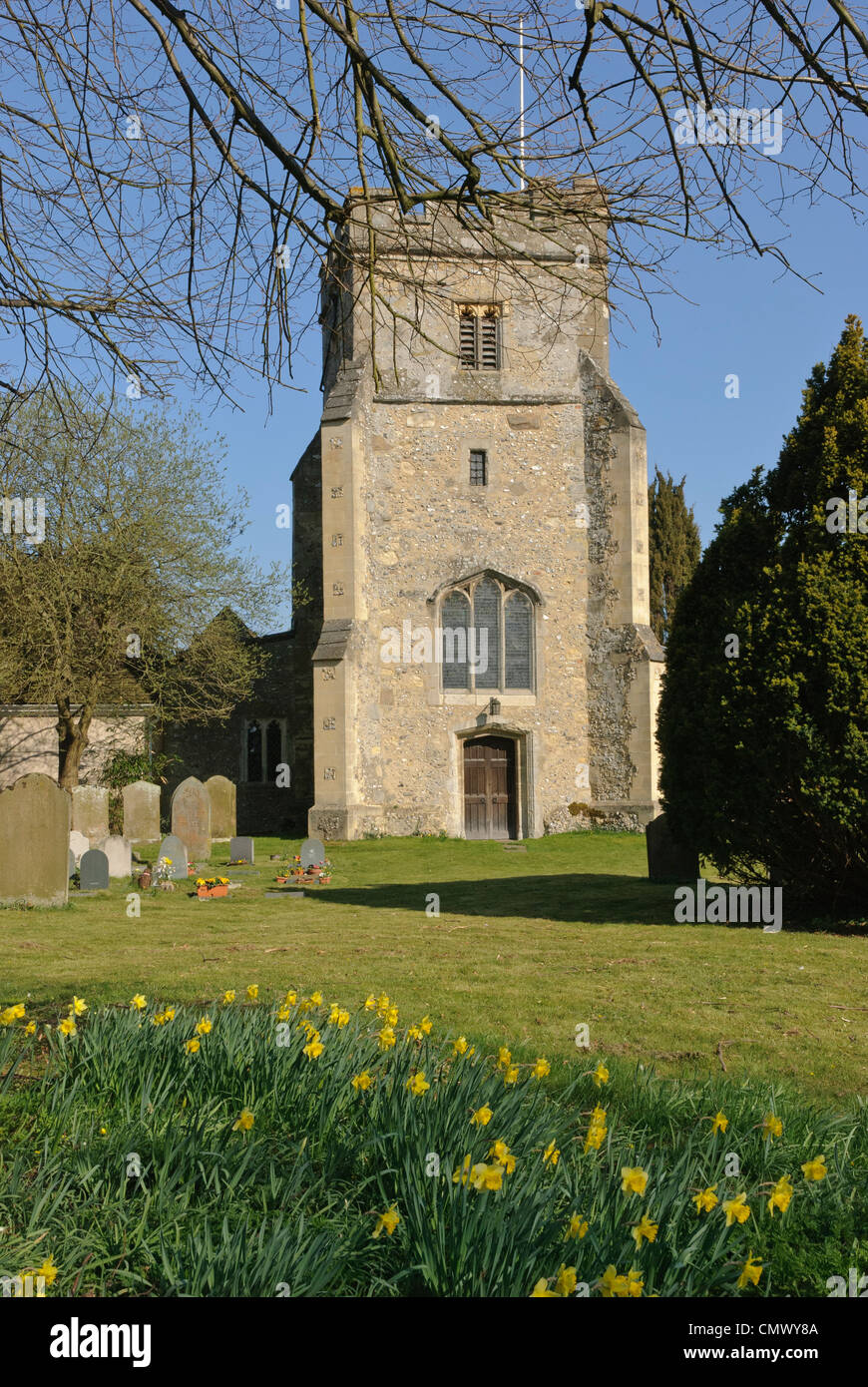 St John the Baptist Church, Little Missenden, Buckinghamshire, UK - Stock Image