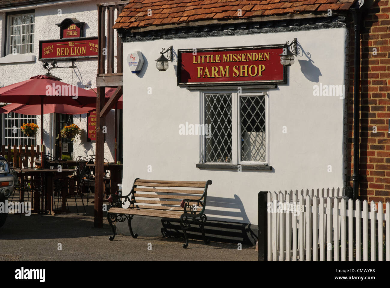 The Farm shop in the rural village of Little Missenden, Buckinghamshire, England. - Stock Image
