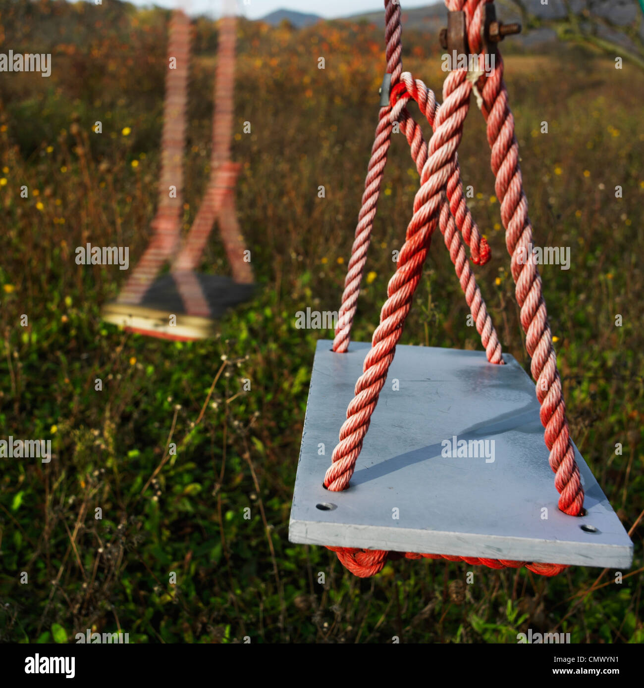 Two swings - Stock Image