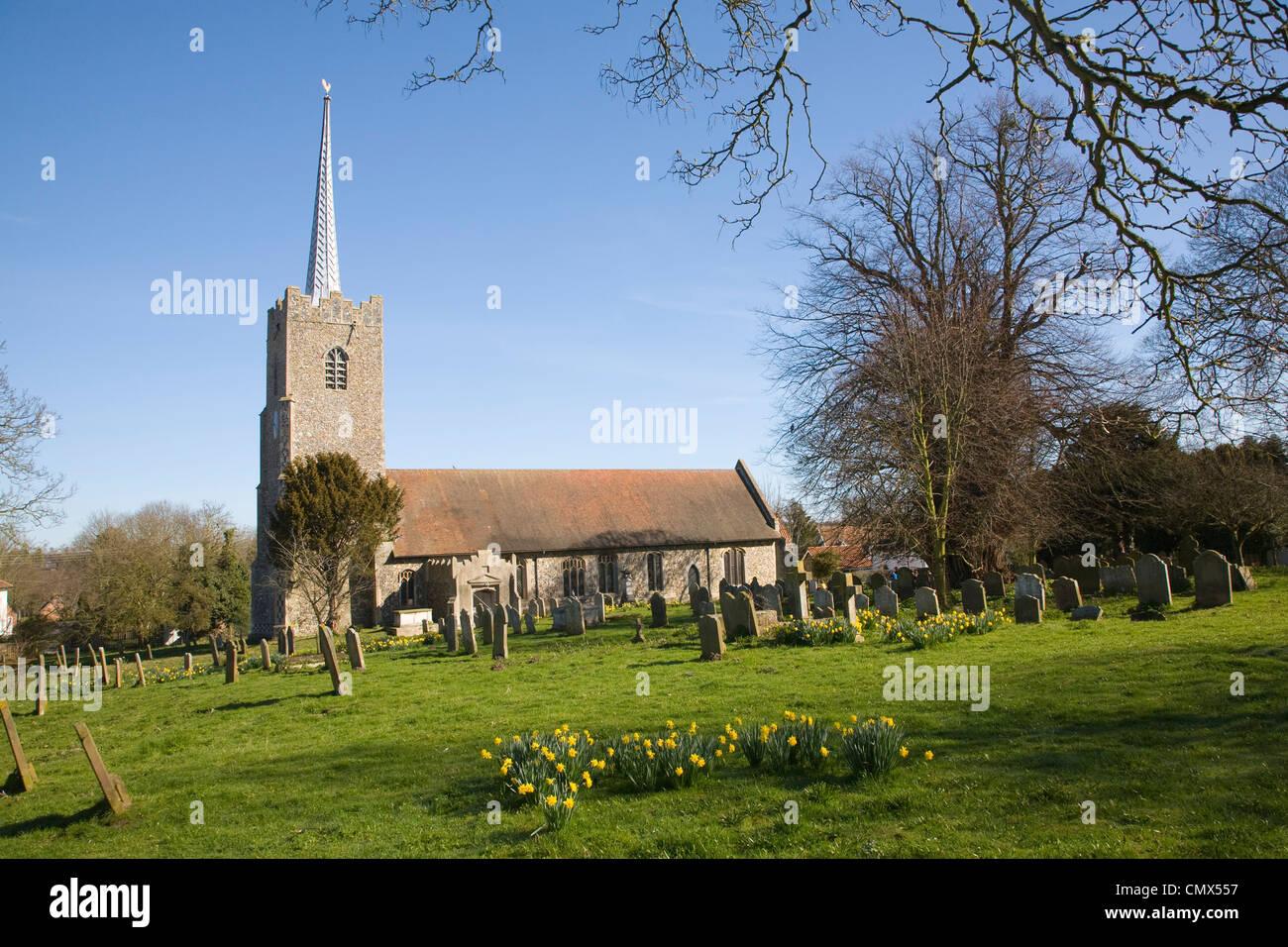 Holy Trinity village parish church, Middleton, Suffolk, England Stock Photo
