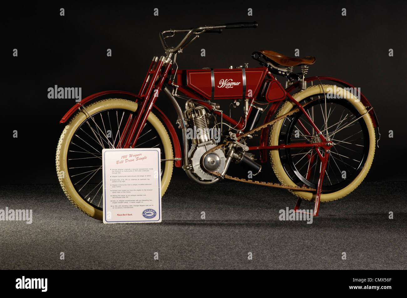 1911 Wagner Belt drive single - Stock Image