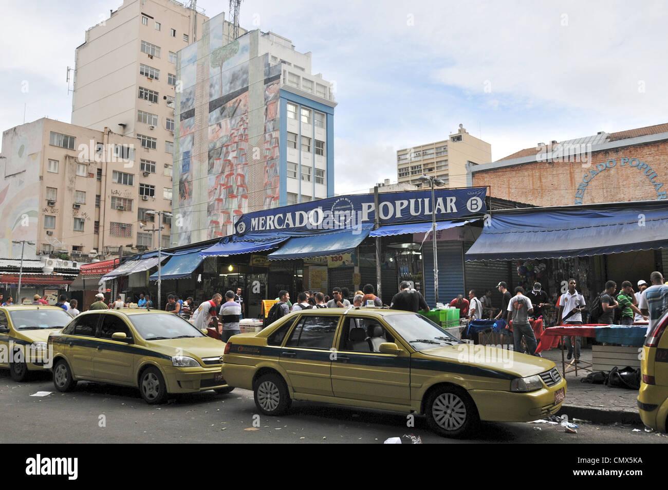 Mercado Popular market Uruguaia Rio de Janeiro Brazil - Stock Image