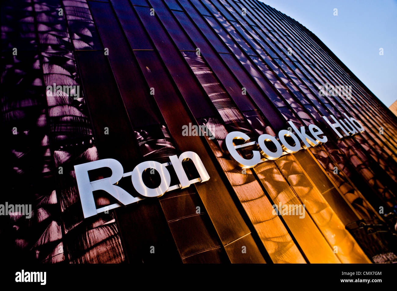 Ron Cooke Hub at sunset - Stock Image