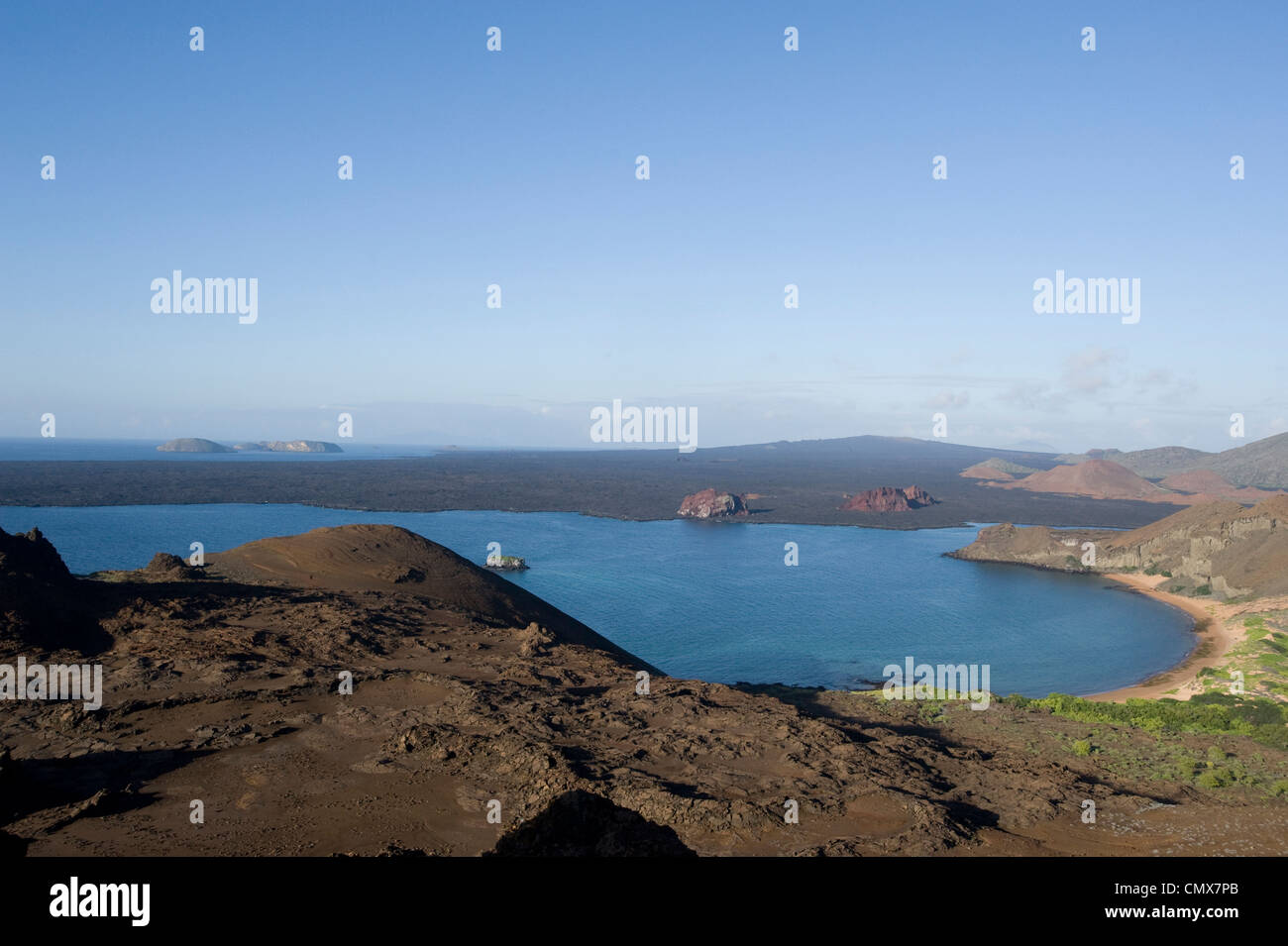 Sullivan Bay, Galapagos Islands Stock Photo