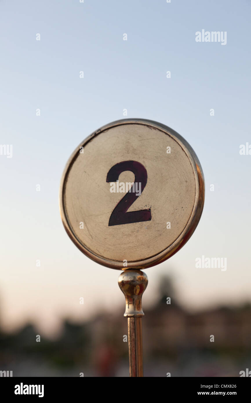Egypt, Table number in Aswan Stock Photo
