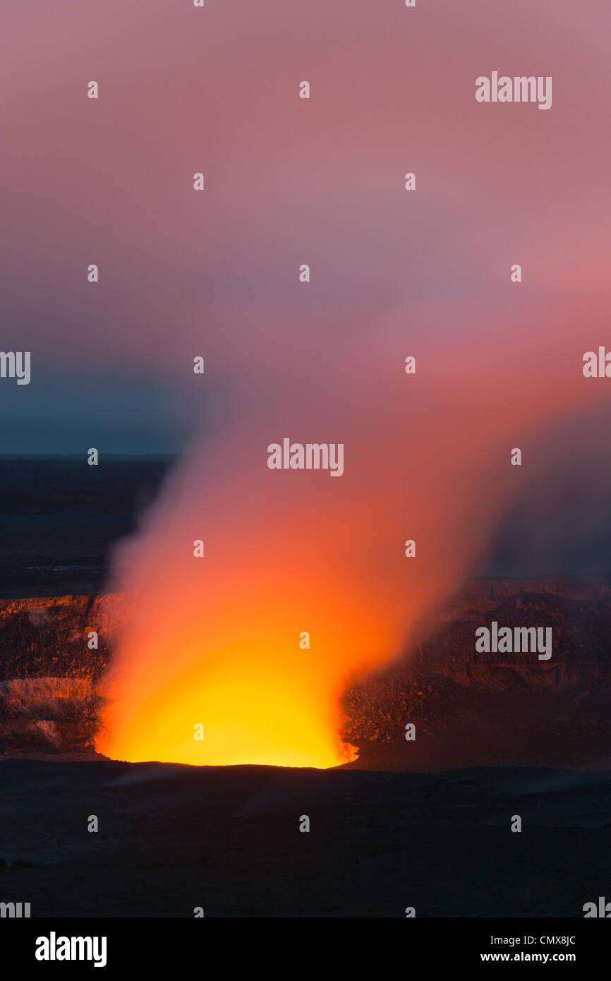 Kilauea Caldera in Hawaii Volcanoes National Park, The Big Island, Hawaii - Stock Image