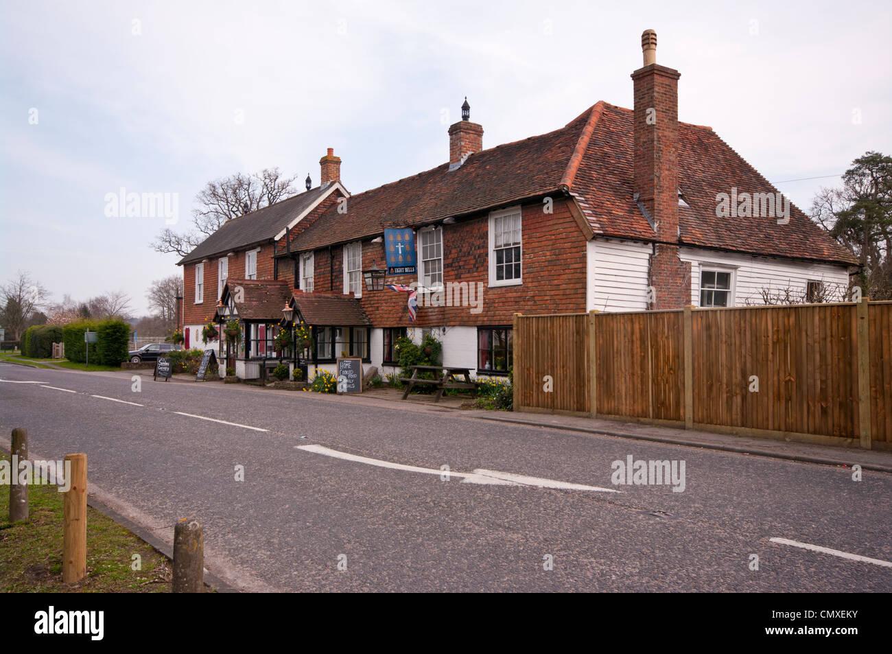 The Eight Bells Village Pub Hawkhurst Kent Uk Pubs - Stock Image