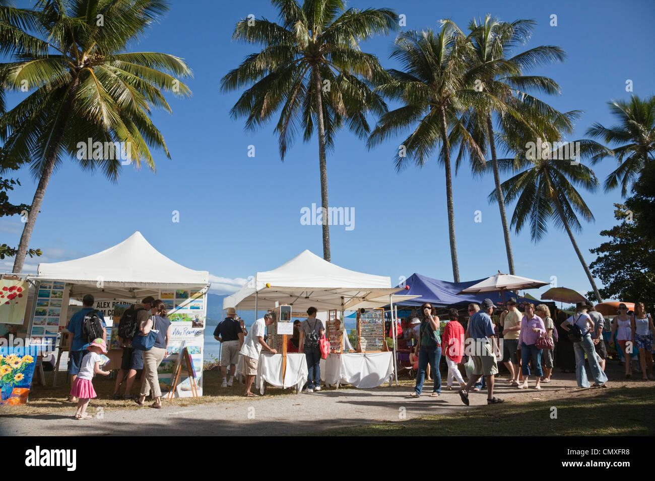 Sunday Markets at Port Douglas, Queensland, Australia - Stock Image
