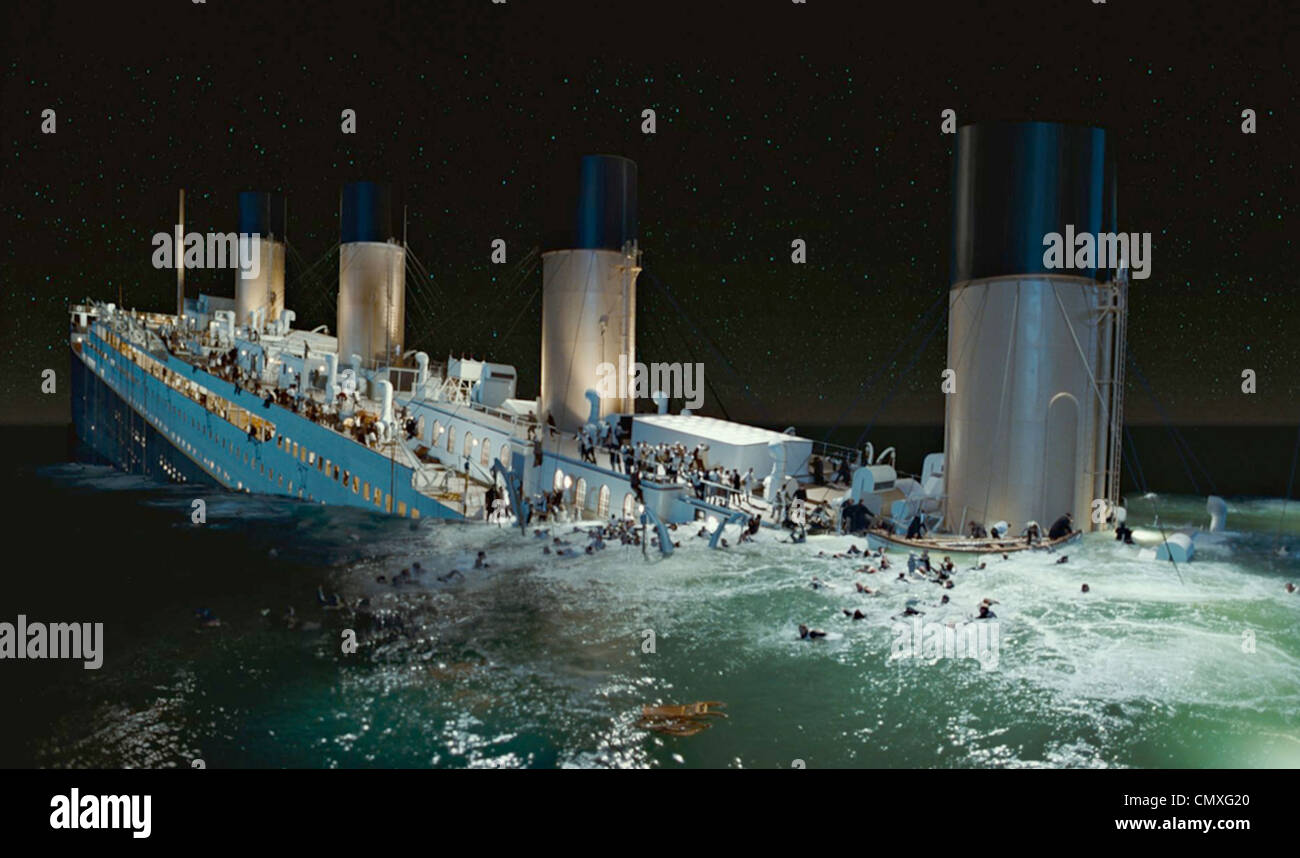 TITANIC 1997 Paramount/TCF film - Stock Image