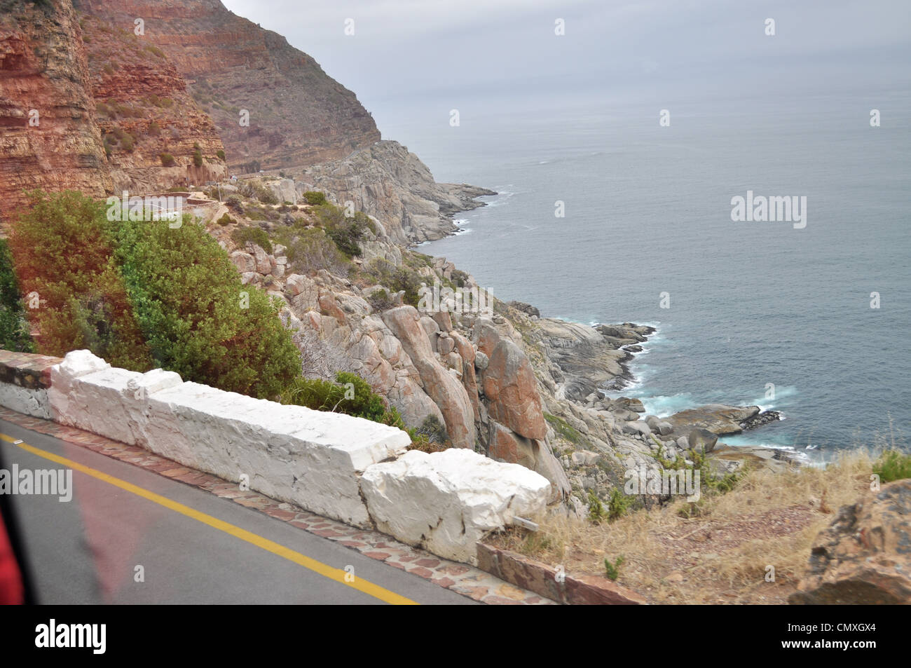 Rugged coast line capetown southafrica Stock Photo
