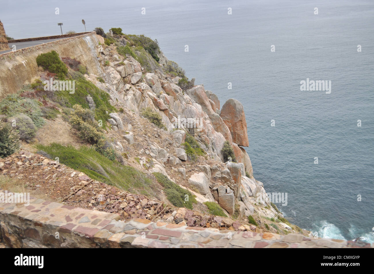 Boulders along capetown southafrica coasline Stock Photo