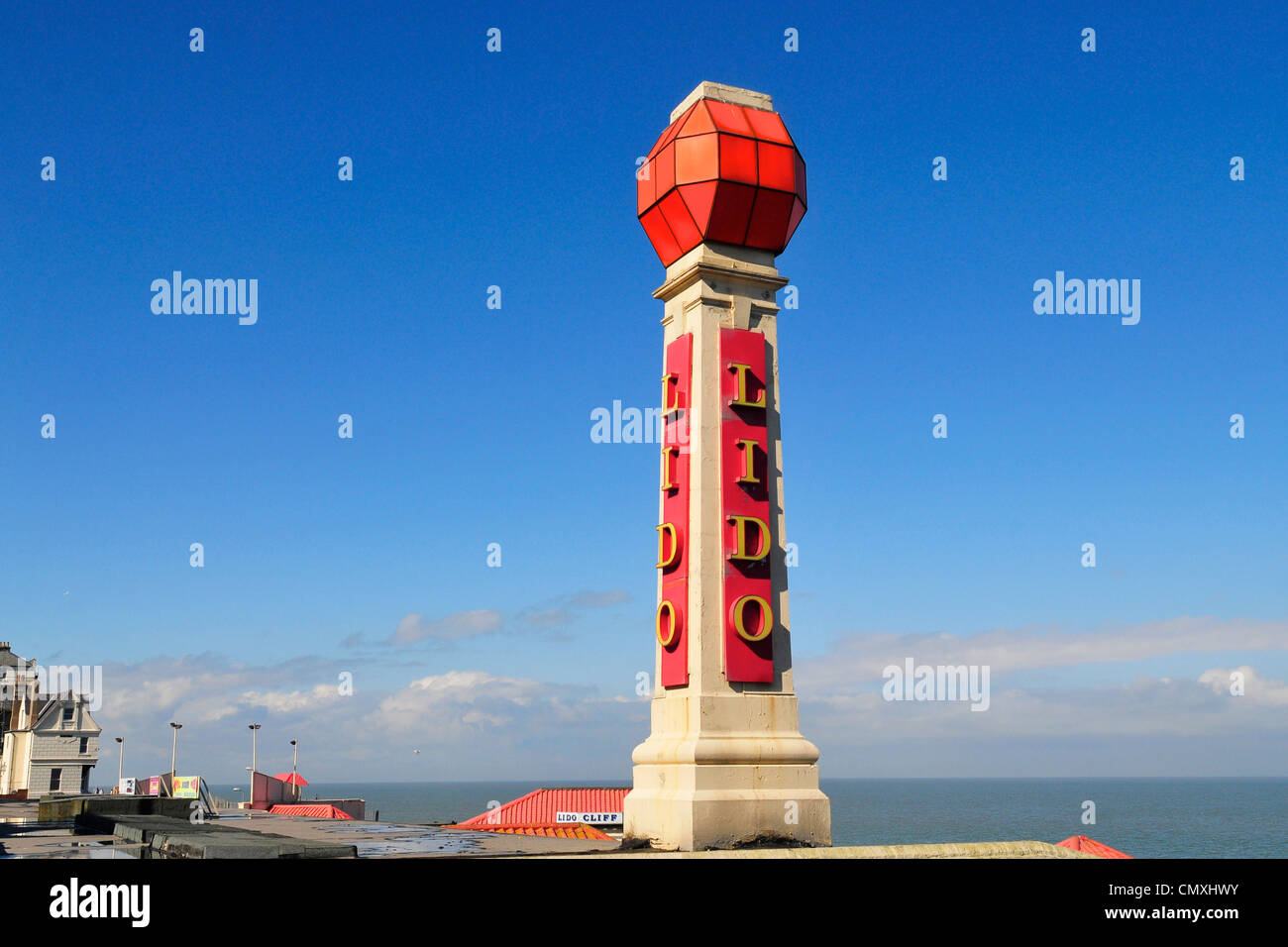Lido in Cliftonville, near Margate, Kent, England - Stock Image
