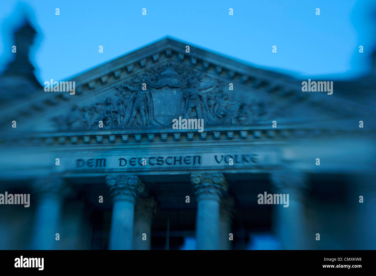Berlin, Reichstag, dome by Norman Forster - Stock Image