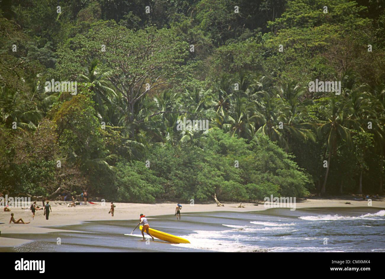 Savage beach, Maunel Antonio Nationalpark, Costa Rica - Stock Image