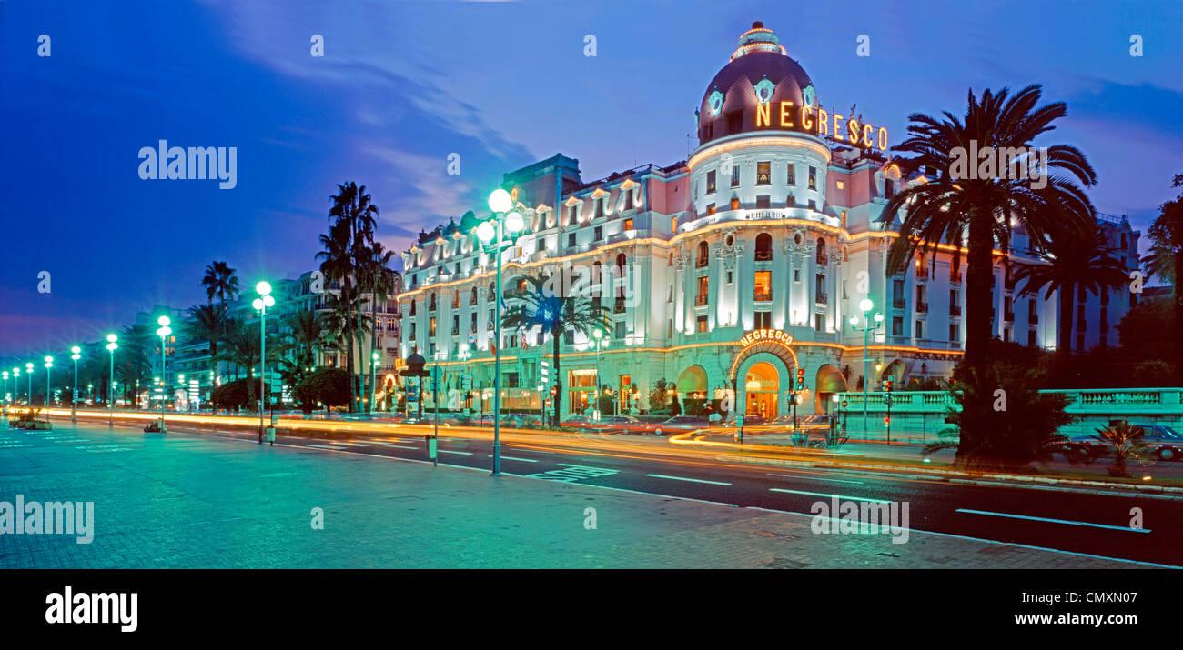 Promenade des Anglais, Hotel Negresco, Nizza, France - Stock Image