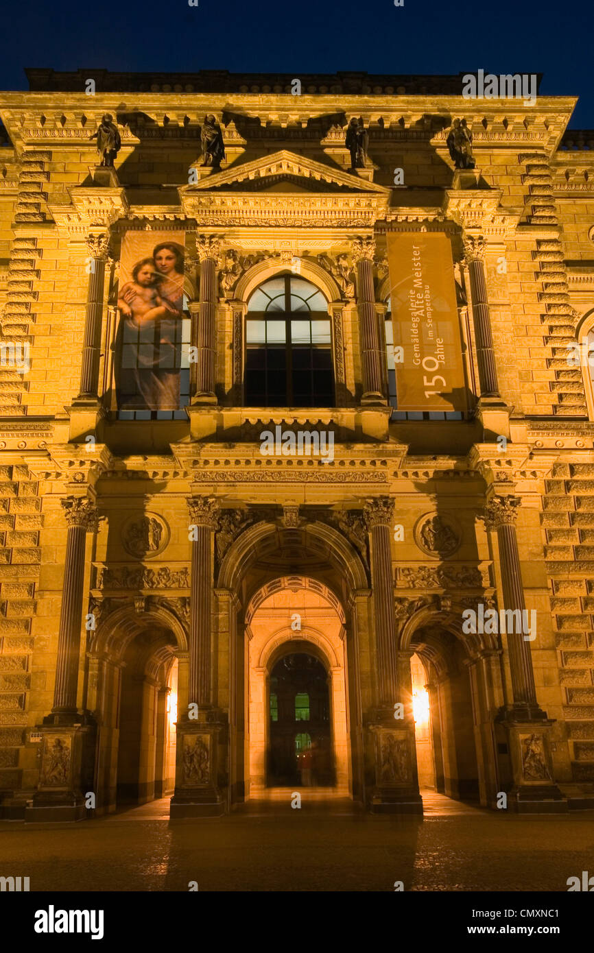 Dresden, picture galery, Zwinger, faca, 150 years Stock Photo