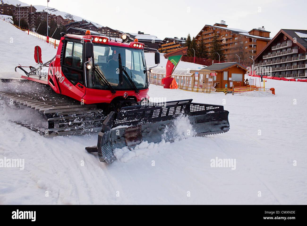 Mottaret Snowplow - Stock Image