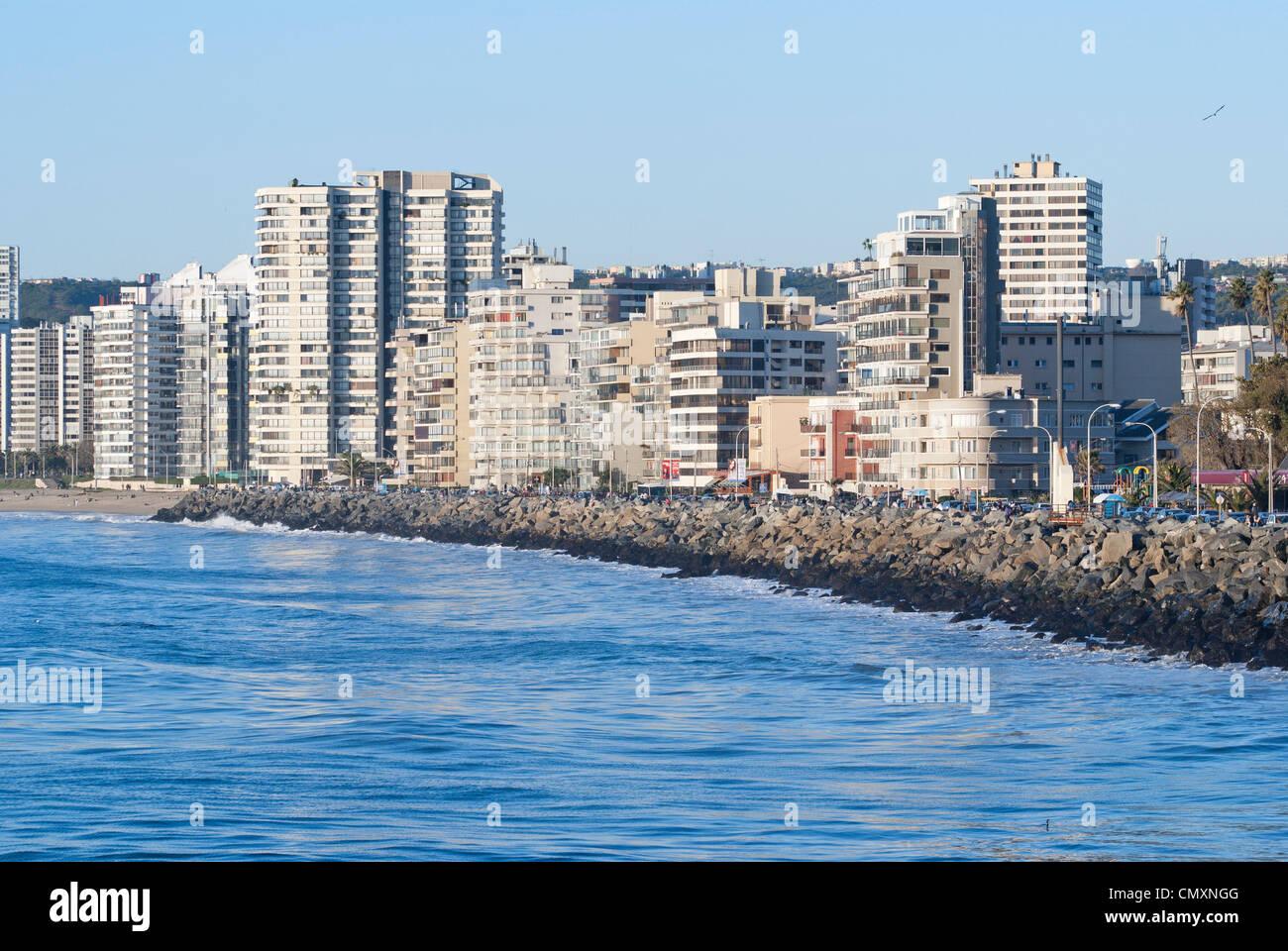 Viña del Mar, Chile - Stock Image