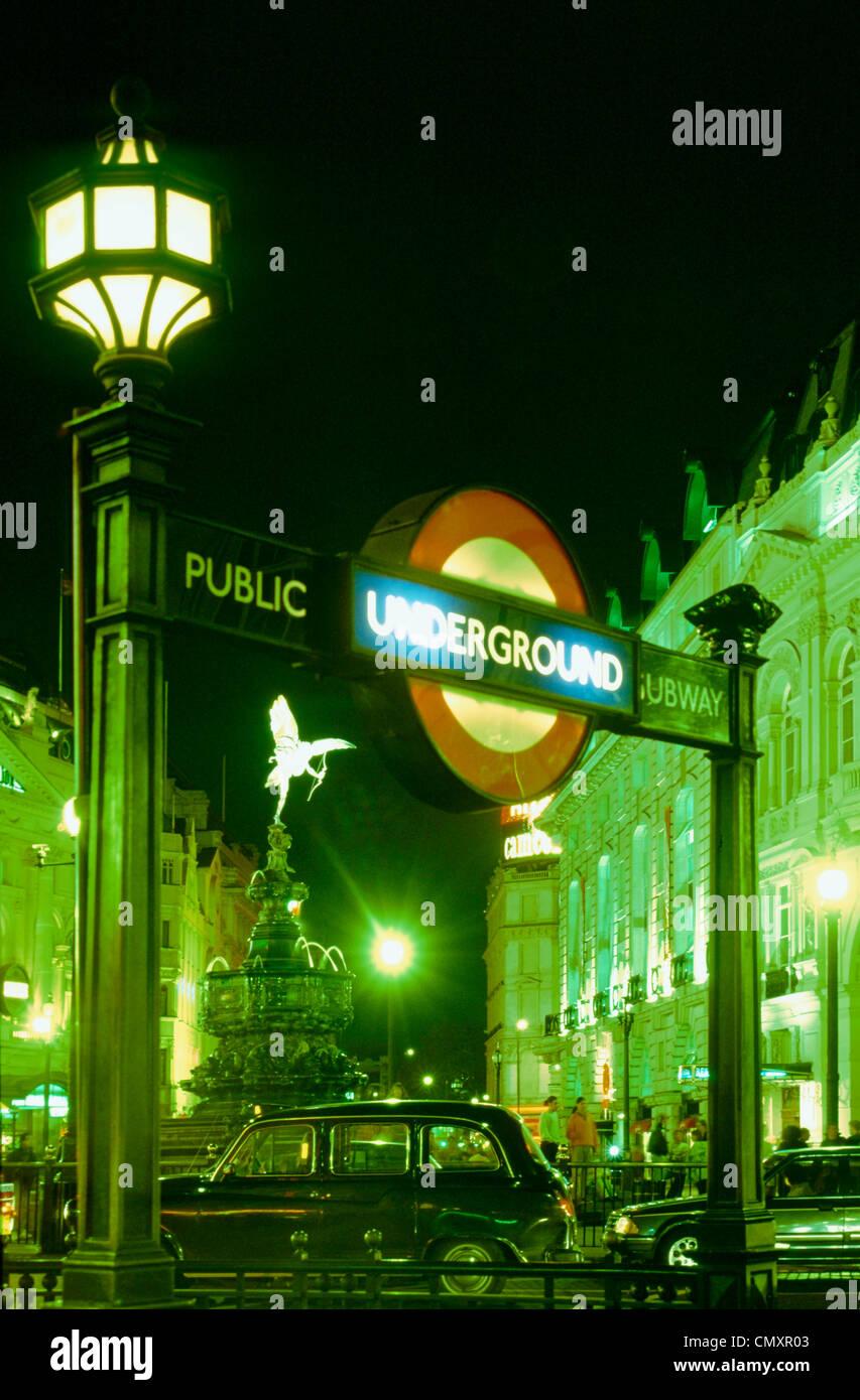 Picadilly circus, London, England - Stock Image
