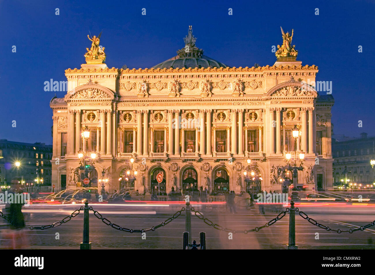 Paris, Oper Garnier nights, outback - Stock Image