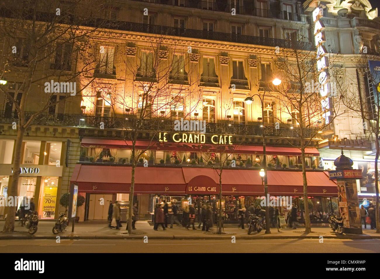 Paris France Le Grand Cafe Bd, Capucines Stock Photo: 47303362 - Alamy