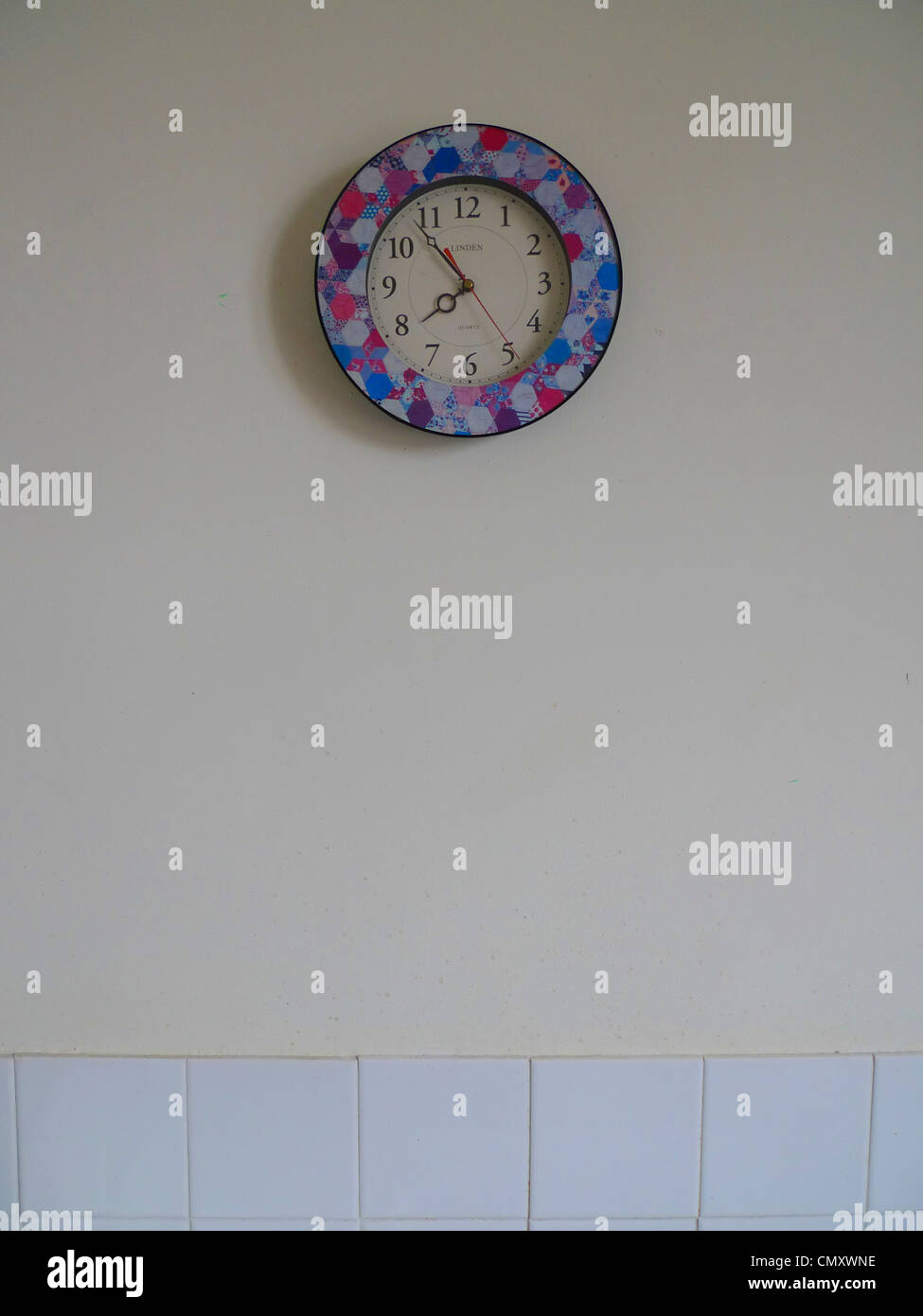 Clock on a wall - Stock Image