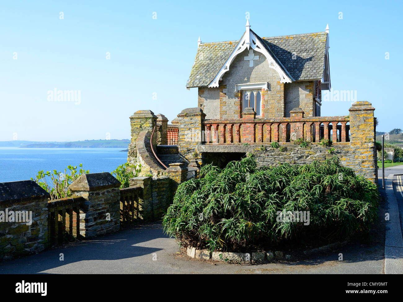 the summerhouse on cliff road in falmouth, uk - Stock Image