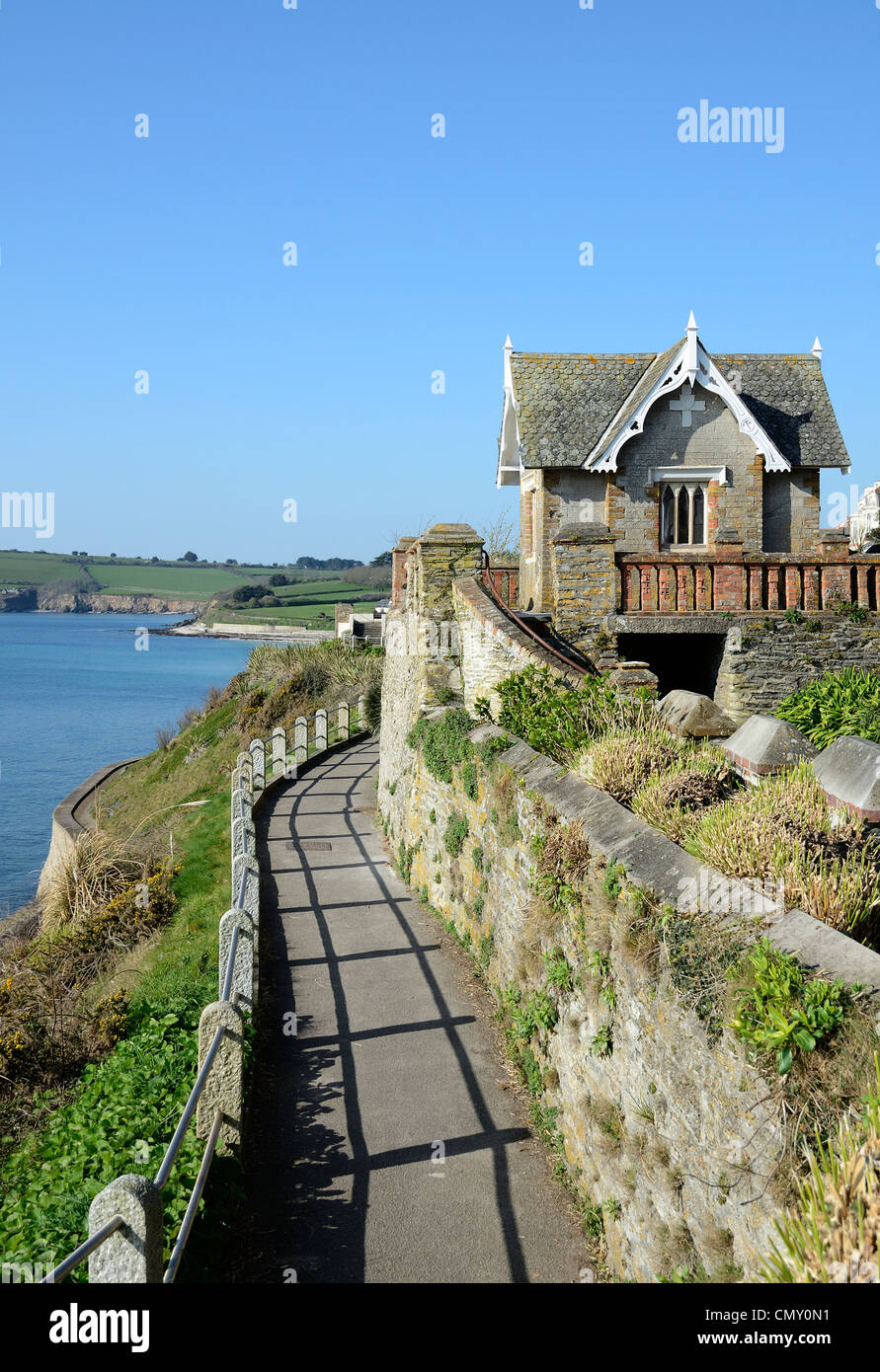 The summer house on cliff road in falmouth, cornwal, uk - Stock Image