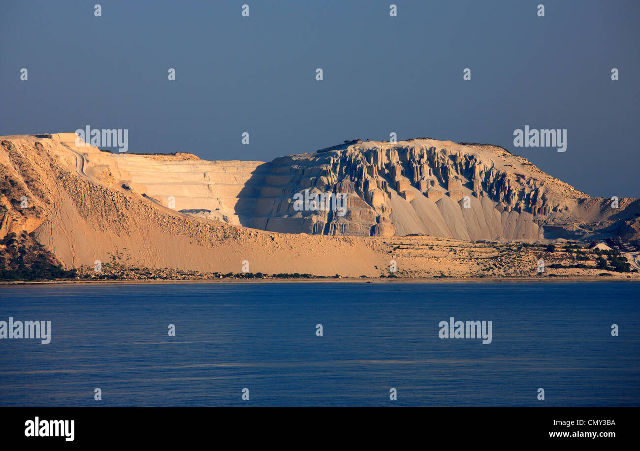 Photo from the pumice quarries of Gyali island, very close to Nisyros island, Dodecanese, Greece - Stock Image