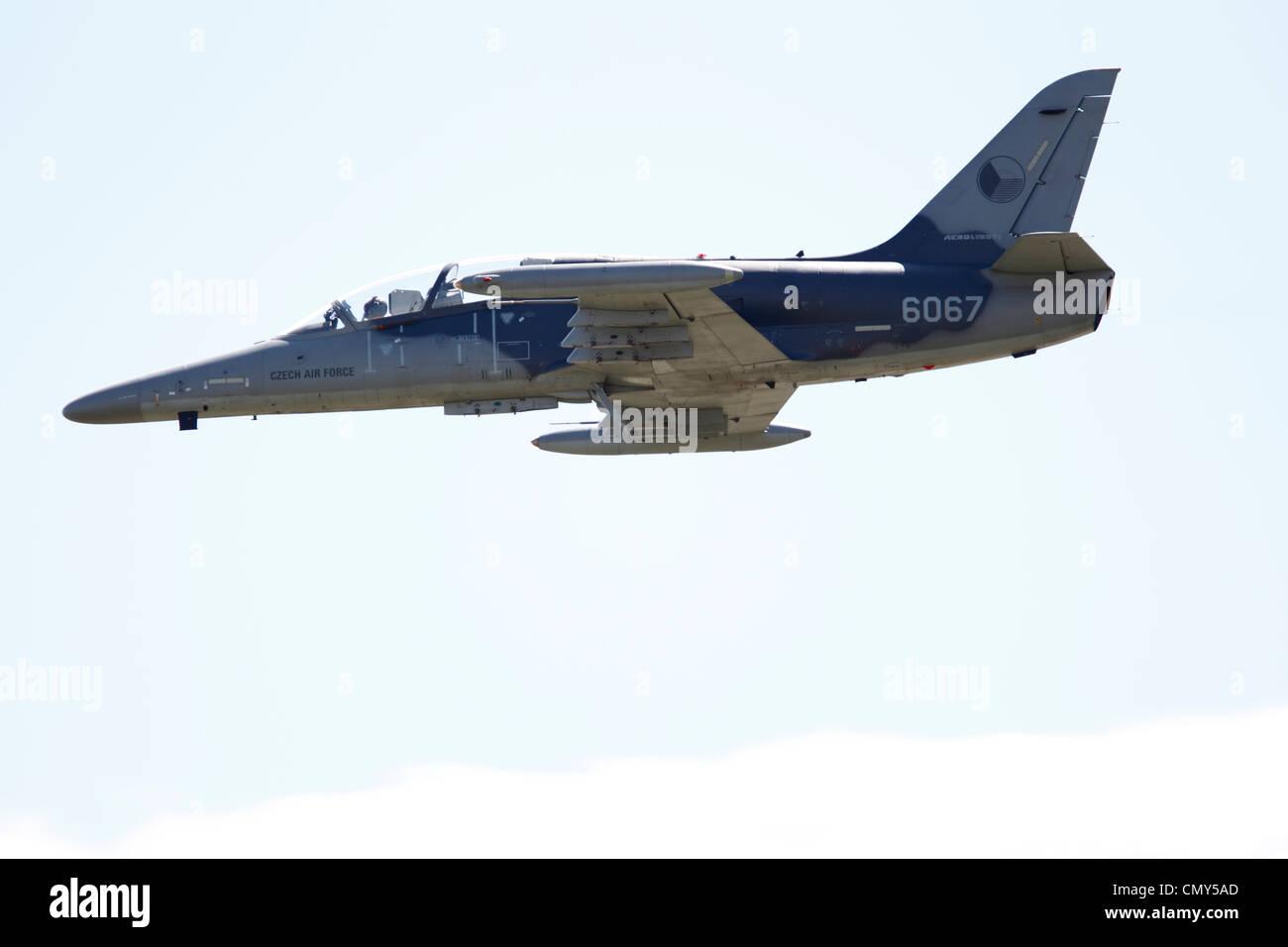 Czech Air Force L-159T1 6067 Aero L 159 ALCA Military Advanced Light Combat Aircraft. Czech-built multi-role combat - Stock Image