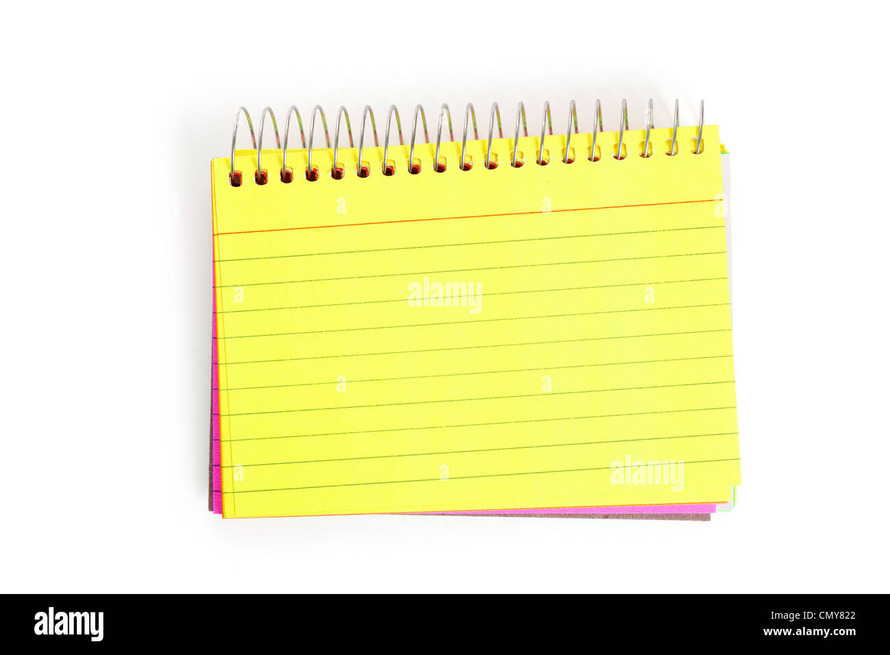 Note Pad with white background - Stock Image