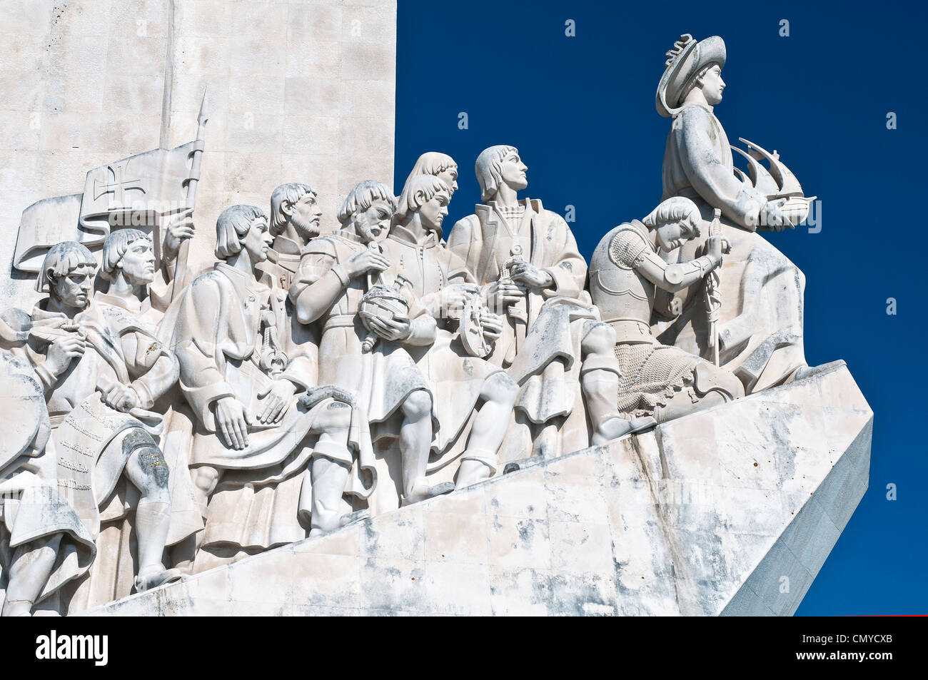 Detail of the Padrão dos Descobrimentos or Monument to the Discoveries in Belém, Lisbon, Portugal - Stock Image
