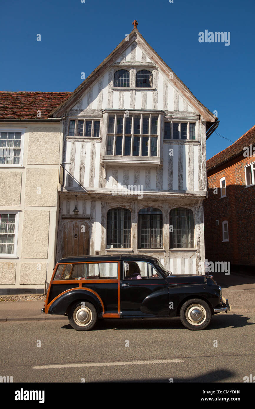 White Medieval Tudor house, Lavenham, Suffolk - Stock Image