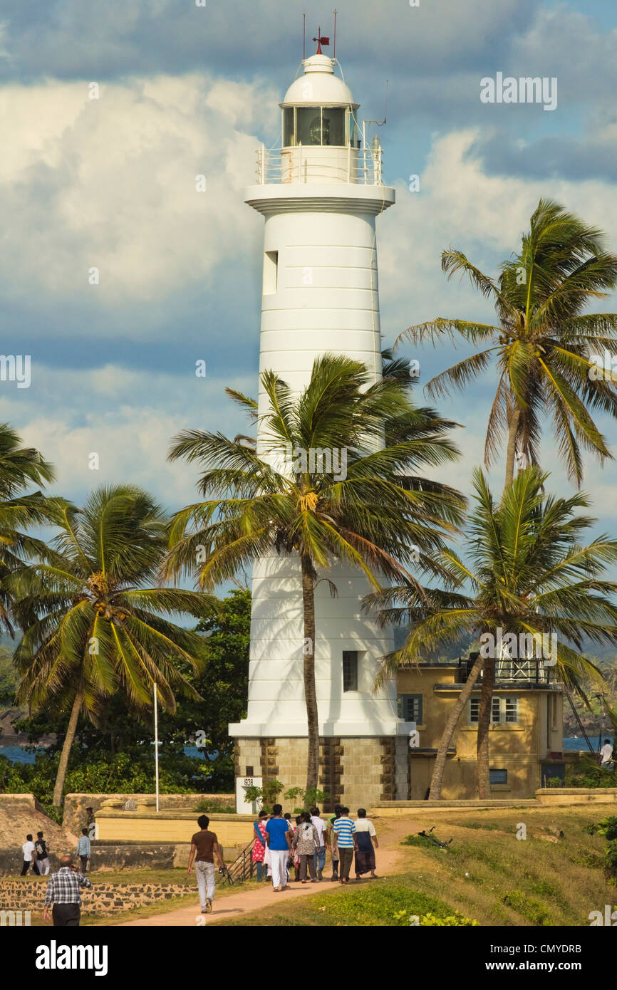Lighthouse at Point Utrecht Bastion in the old Fort, known for it's colonial architecture; Galle, Southern Province, - Stock Image
