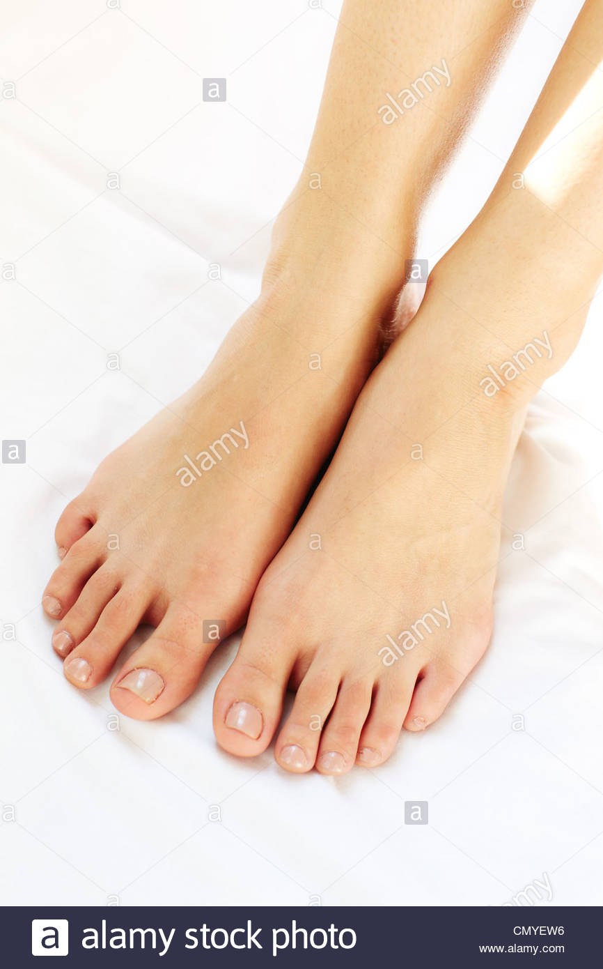 Womans feet Stock Photo
