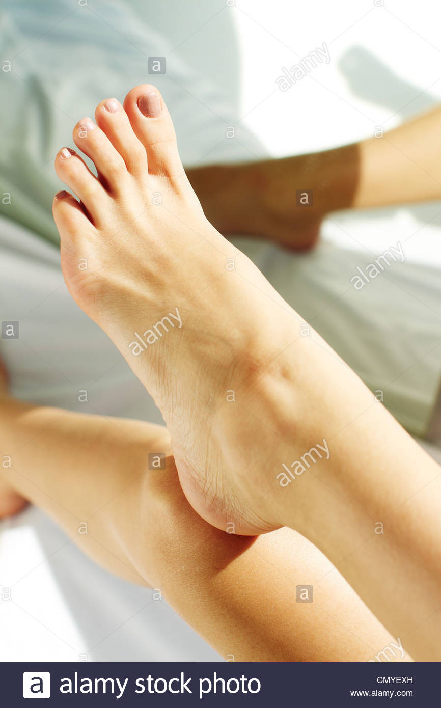 Womans feet - Stock Image