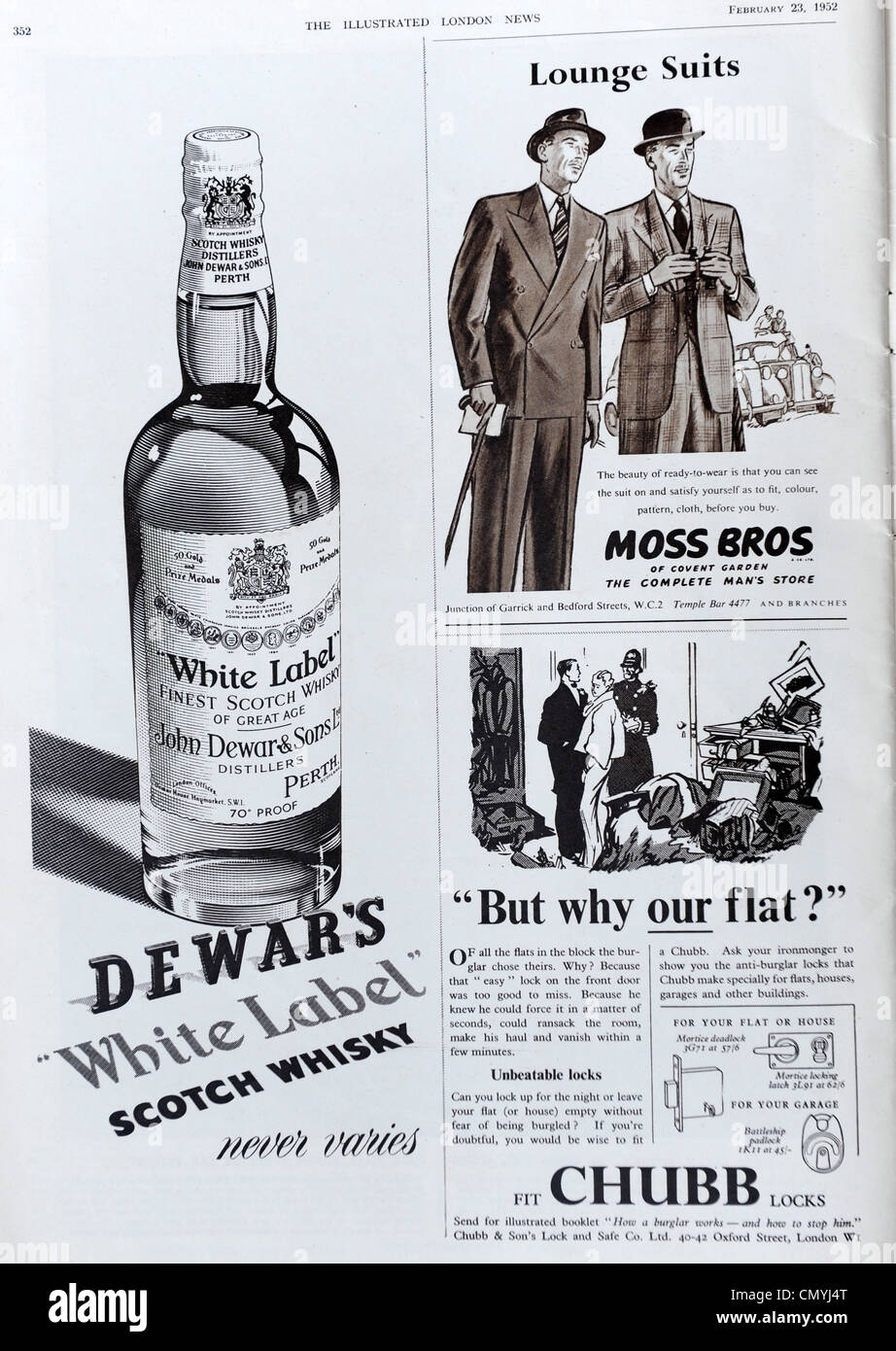 advert in The Illustrated London News 23/2/52 - Stock Image