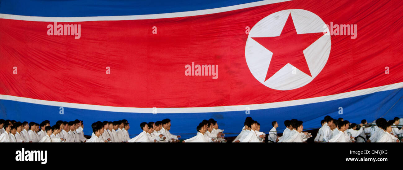 Arirang Mass Games Festival in Pyongyang May Day Stadium, North Korea - Stock Image