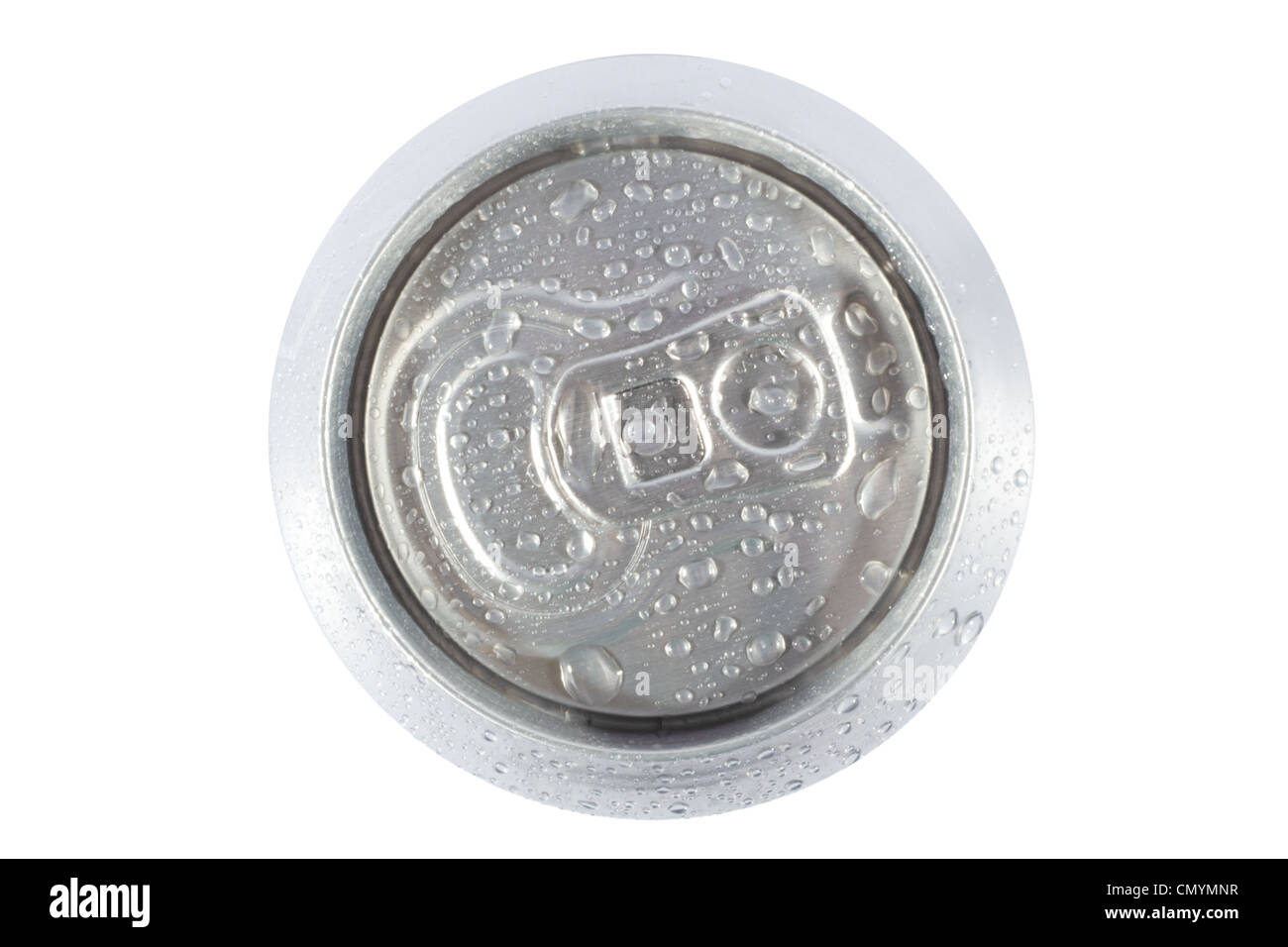 Top view cold grey can Stock Photo