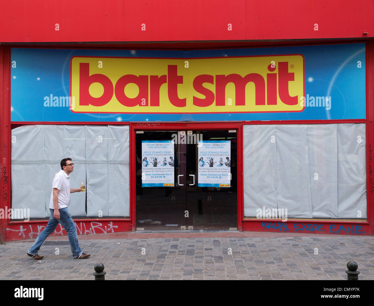 Closed down Bart Smit toy store in Brussels, Belgium - Stock Image