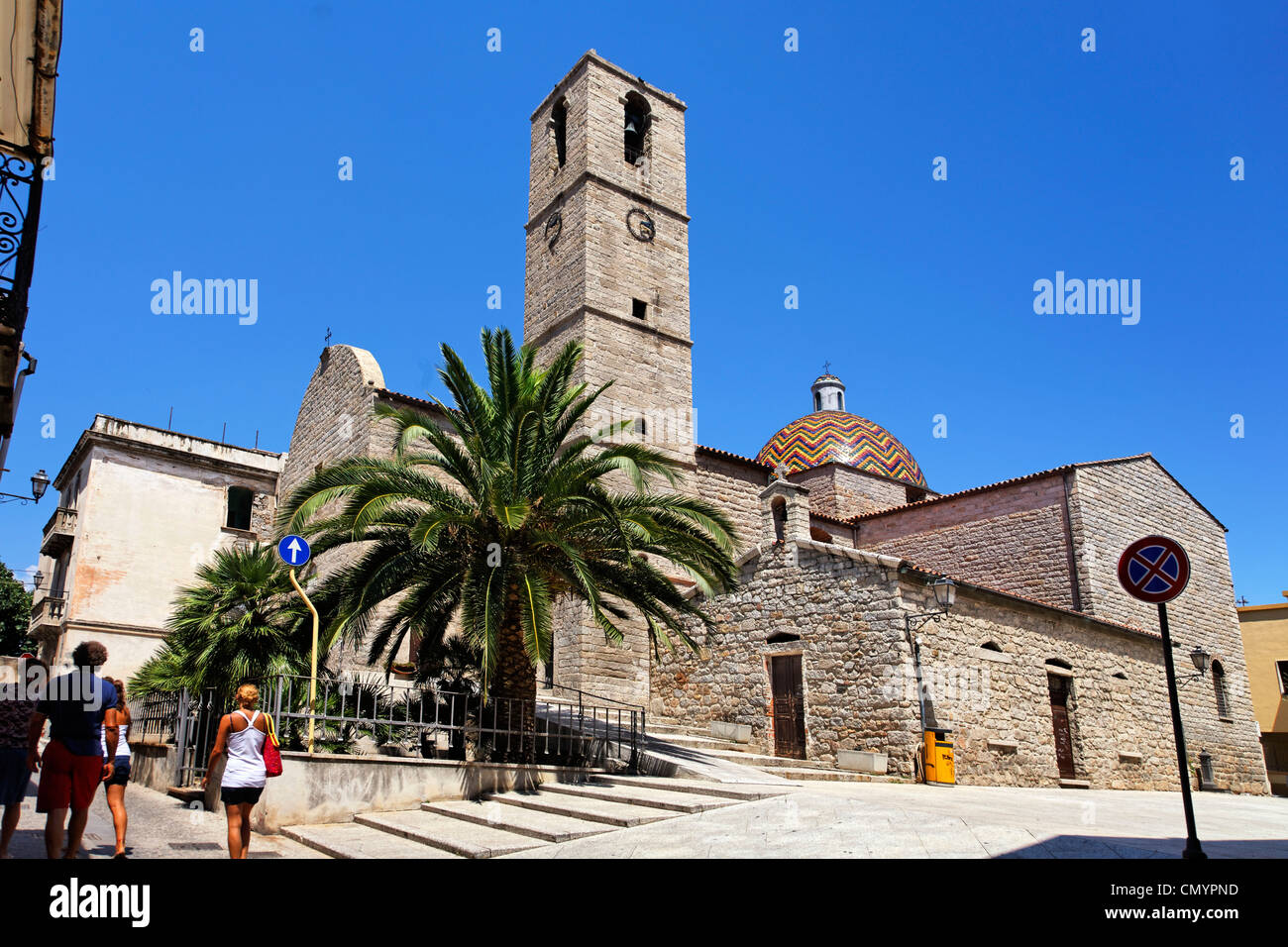 Italy Sardinia Olbia  church - Stock Image