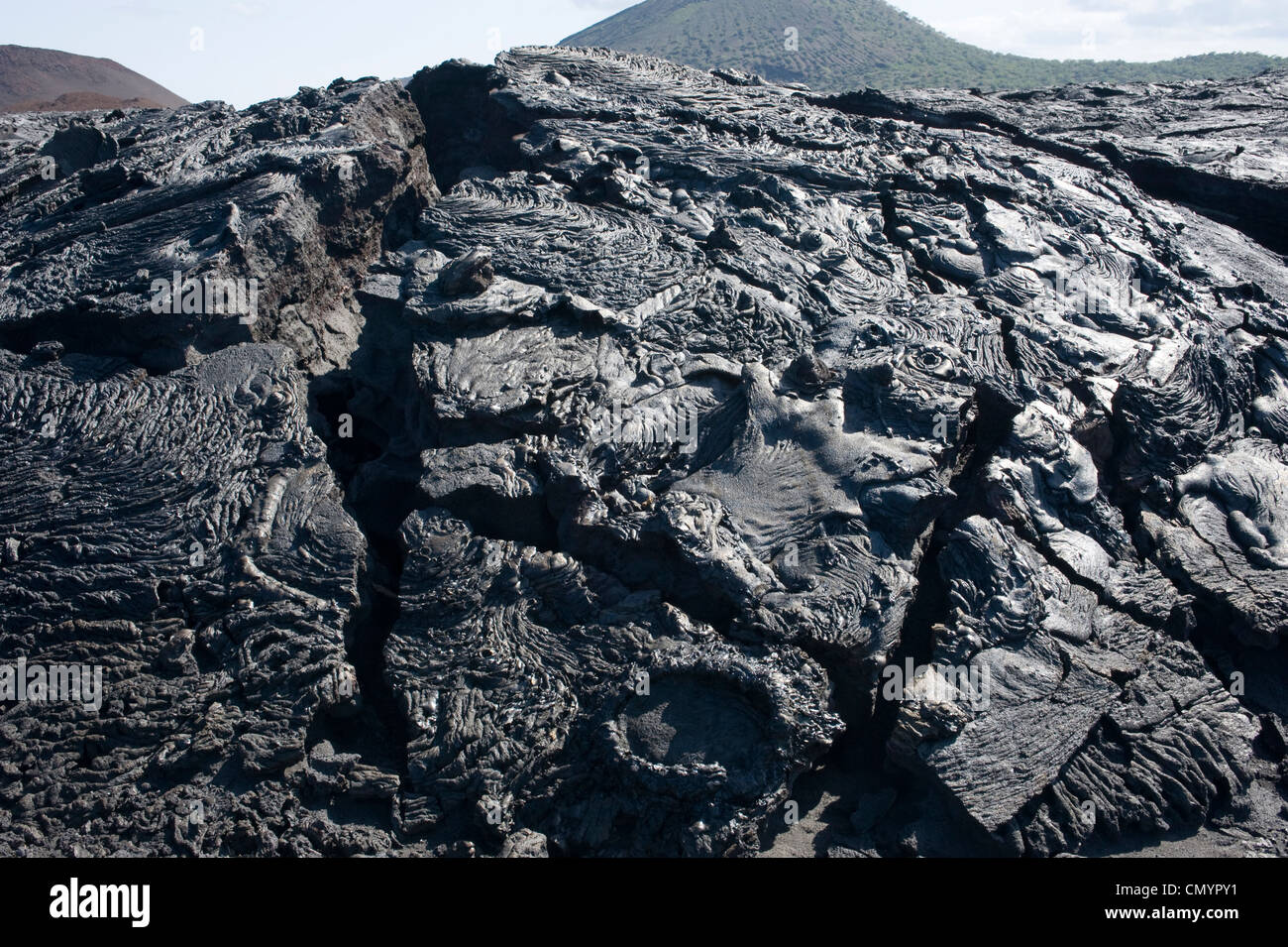 Volcanic rock formations, Galapagos Islands Stock Photo